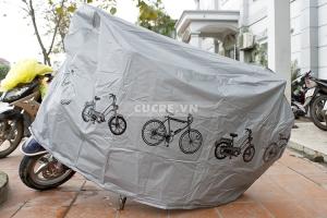 Bạt phủ xe máy loại cao cấp siêu bền hình xe đạp ngộ nghĩnh