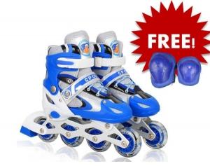 Giầy trượt patin cao cấp tặng kèm bộ bảo vệ đầu gối