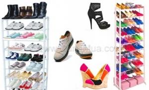 Kệ để giày 10 tầng giúp bạn sắp xếp giày dép thông minh, tiện lợi