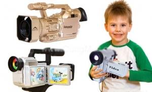 Máy quay phim đồ chơi trẻ em độc đáo và thú vị